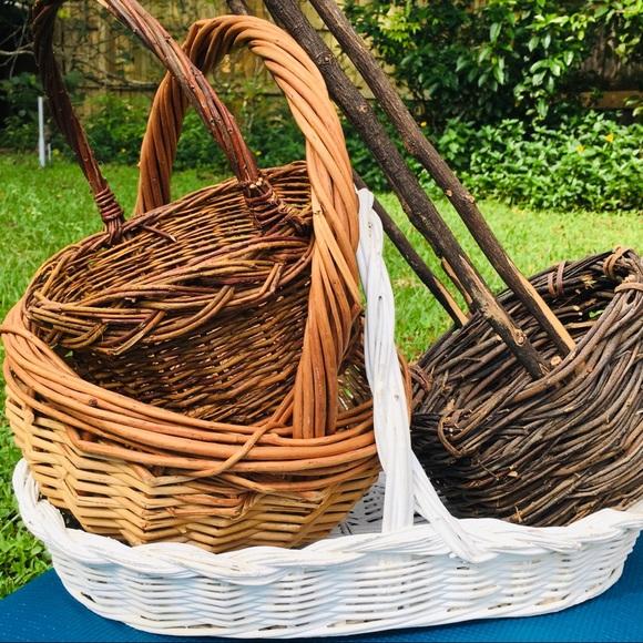 SOLD Vintage Baskets Handles Bundle
